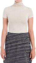 Max Studio Jersey Short Sleeved Turtleneck Top