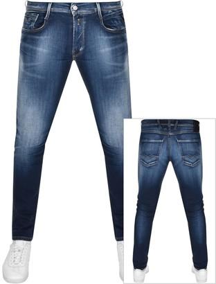 Replay Anbass Hyperflex Jeans Blue