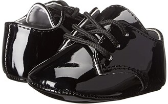 Baby Deer Dress Oxford (Infant) (Black Patent) Boys Shoes