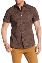 Slate & Stone Plane Patterned Short Sleeve Trim Fit Shirt