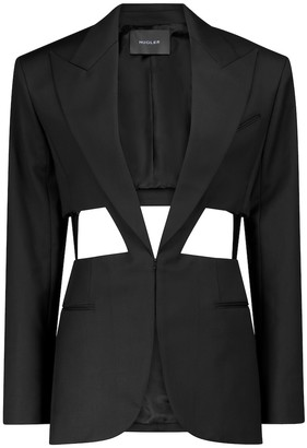 Thierry Mugler Cutout virgin wool blazer