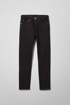 Weekday 501 Skinny Black Slate Jeans - Black