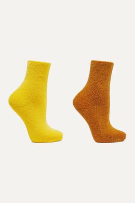 Base Range + Net Sustain Set Of Two Cotton-blend Socks