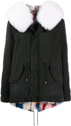 Mr & Mrs Italy fox fur hooded jacket