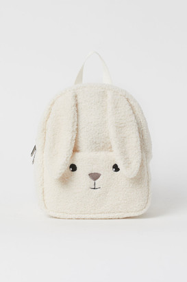 H&M Faux Shearling Backpack - White