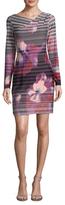 Rachel Roy Printed V-Neck Jersey Dress