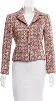 Chanel Zipped Tweed Jacket