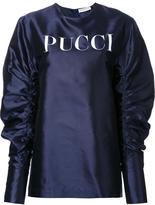 Emilio Pucci logo print blouse