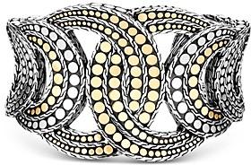 John Hardy Sterling Silver & 18K Yellow Gold Dot Large Cuff Bracelet