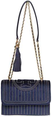 Tory Burch Mini Stud Small Fleming Bag In Velvet With Applied Studs