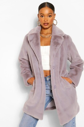 boohoo Plush Faux Fur Coat