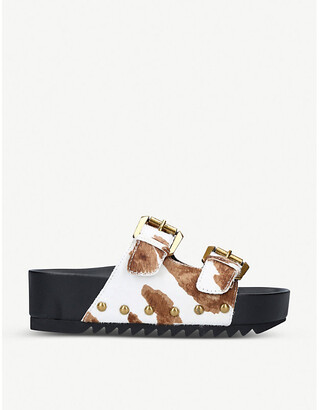Kurt Geiger London Deven platform buckle sandals