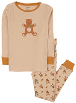 Leveret Sleep Bottoms - Tan Teddy Bear Pajama Set - Infant, Toddler & Kids