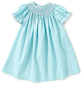 Edgehill Collection Baby Girls 3-24 Months Geometric Smocked Puff-Sleeve Dress
