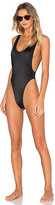 Norma Kamali Marissa One Piece in Black. - size L (also in M,S,XS)