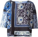 Wunderkind scarf print top - women - Cotton - 32