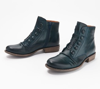 Miz Mooz Leather Button Ankle Boots - Louise