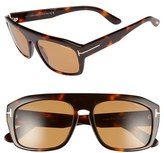Tom Ford Women's 'Conrad' 58Mm Sunglasses - Black/other/ Smoke