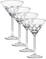 Top Shelf Bevel Crystal Martini Glasses (Set of 4)