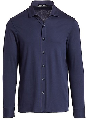 Nominee Cotton Knit Button-Down Shirt