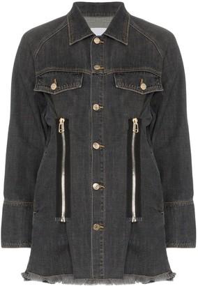 Sjyp Zip Detail Denim Jacket