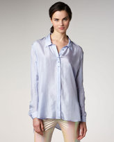 Theyskens' Theory Silk Button-Front Blouse