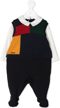 Le Bebé Enfant Colour-Block Babygrow