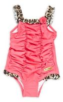 Juicy Couture Little Girl's Crinkled One-Piece Swimsuit