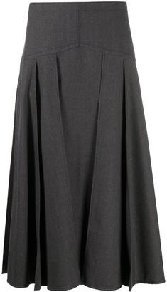 Odeeh Flared Midi Skirt