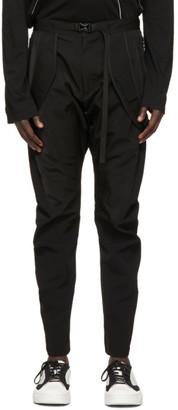 Julius Black Slim Strap Trousers