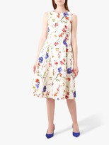 Hobbs Cleo Floral Dress, Ivory/Multi