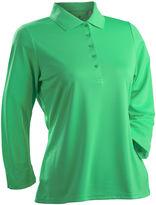Asstd National Brand Nancy Lopez Golf Luster 3/4 Sleeve Polo