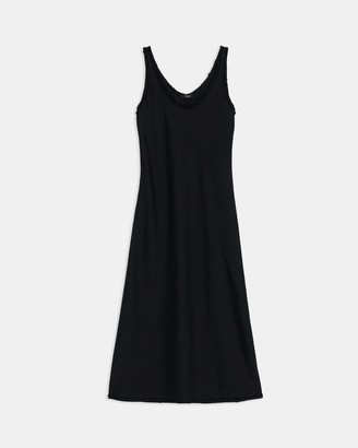 Theory Scoop Tank Dress in Spring Linen