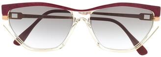 Yves Saint Laurent Pre-Owned 1990s Rectangular-Frame Sunglasses