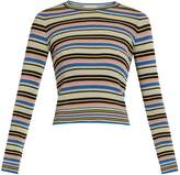 Valentino Multi-striped cotton sweater