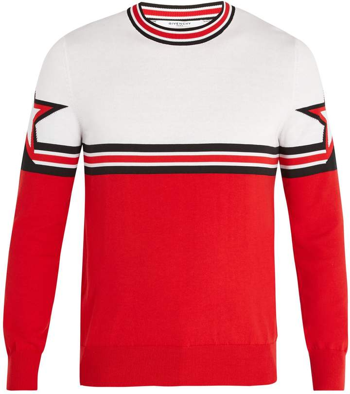 Givenchy Star-intarsia cotton sweater