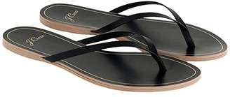 J.Crew New Capri Leather Flip-Flop (Black) Women's Shoes