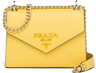 Prada Monochrome Saffiano Leather Bag