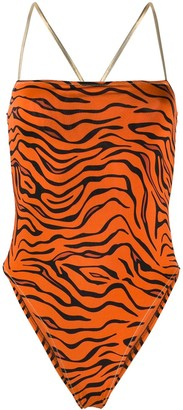 Reina Olga Chloe tiger print swimsuit