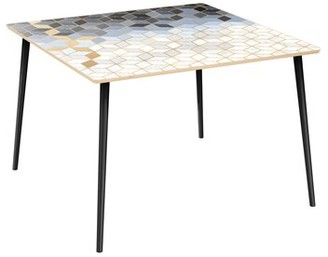 Bungalow Rose Bolsward Dining Table Top Color: Natural, Base Color: Black