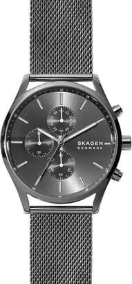 Skagen Holst Chronograph Mesh Strap Watch, 42mm