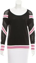 Rebecca Minkoff Crew Neck Open Knit Sweater