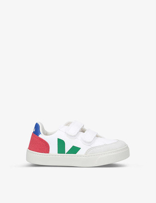Veja V12 branded ChromeFree leather trainers 2-5 years