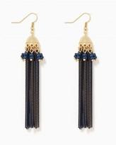 Charming charlie Glistening Chain Tassel Earrings