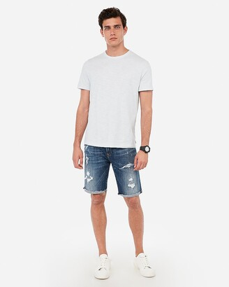 Express Textured Crew Neck T-Shirt