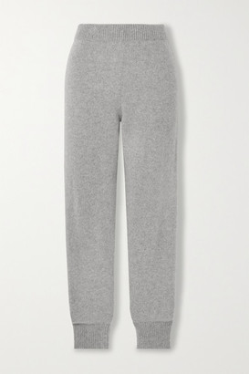 The Elder Statesman Cashmere Track Pants - Gray