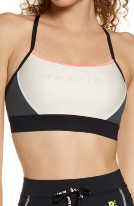 P.E Nation Forward Pass Racerback Sports Bra