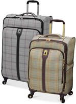 London Fog Knightsbridge Spinner Luggage Collection, Available in Brown and Grey Glen Plaid, Macy's Exclusive Colors