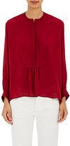 "Nili Lotan Women's ""Tuxedo"" Blouse-RED"