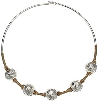 Robert Lee Morris Sculptural Bead Wire Collar Necklace (Two-Tone) Necklace
